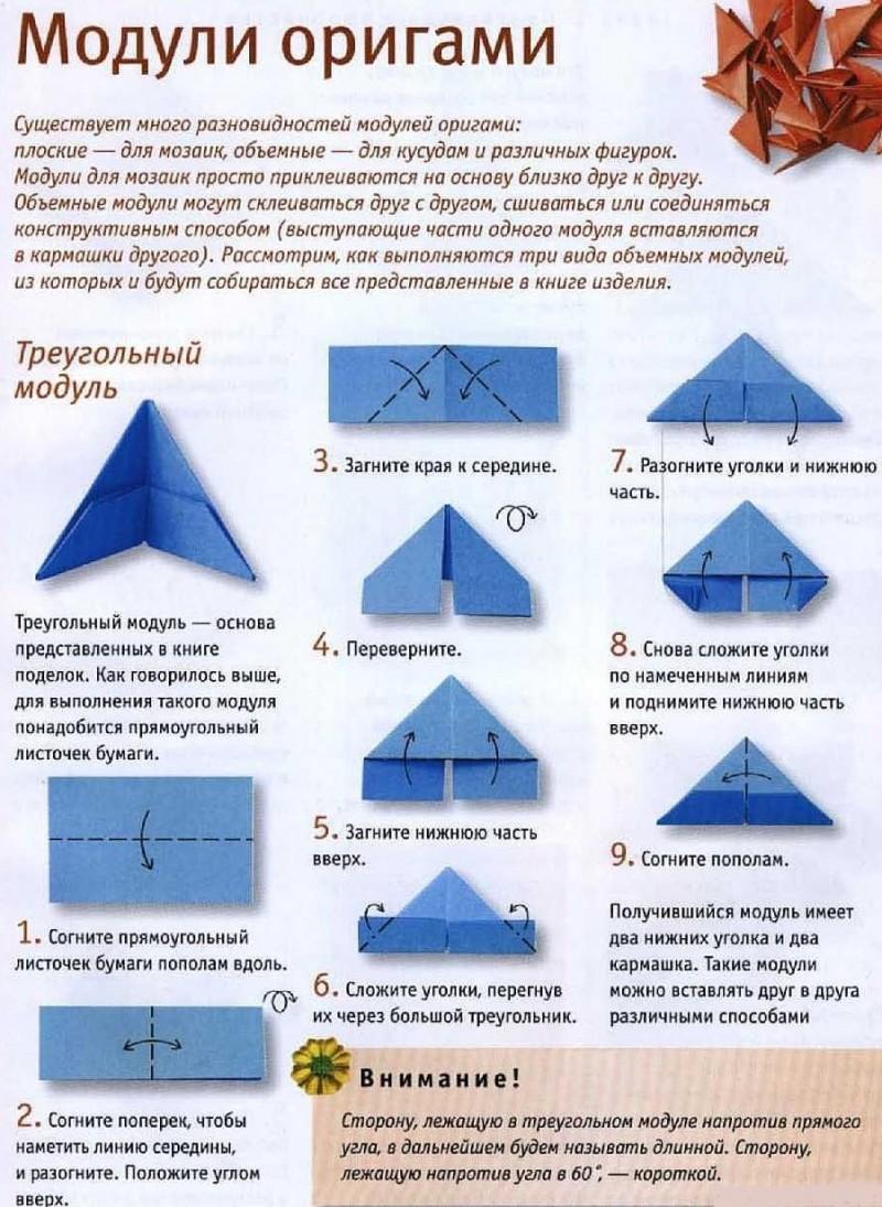 модульное оригами схемы с картинками новом